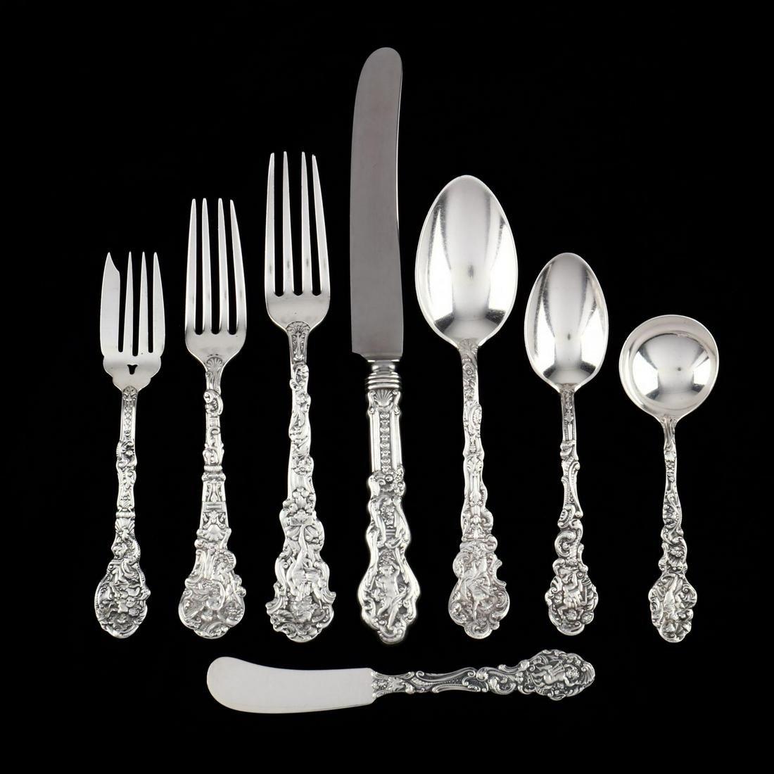 """Gorham """"Versailles"""" Sterling Silver Flatware Service"""