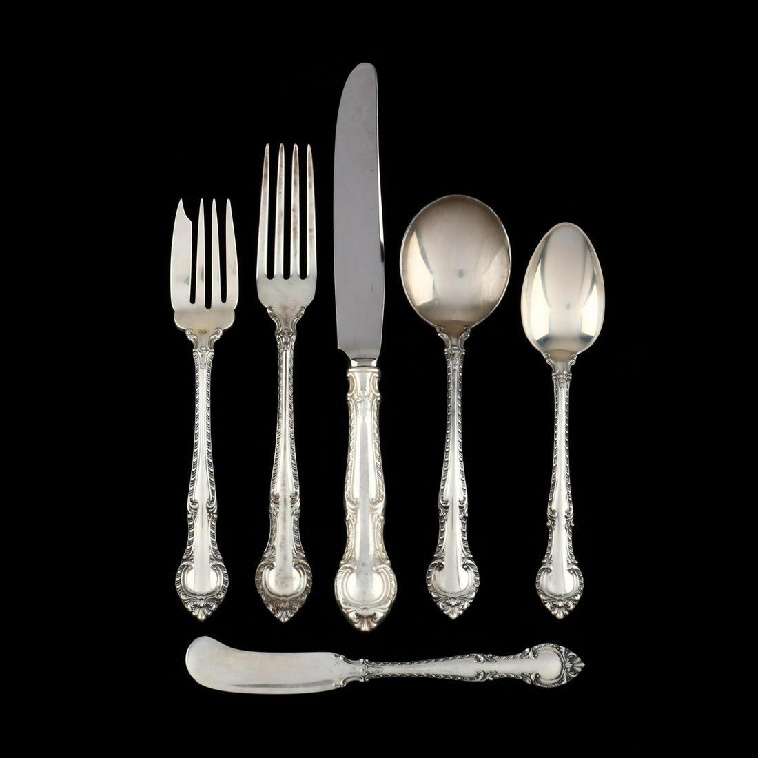 "Gorham ""English Gadroon"" Sterling Silver Flatware"