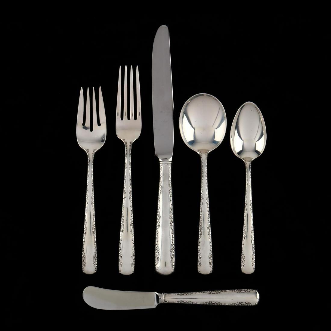 """Gorham """"Camellia"""" Sterling Silver Flatware"""