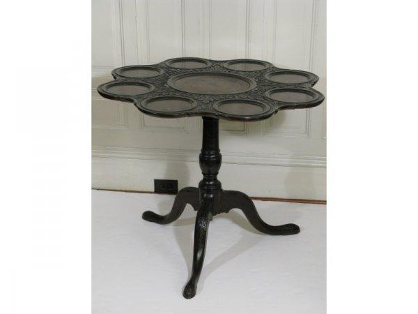 1: Tea Table, English, late 19th c.,