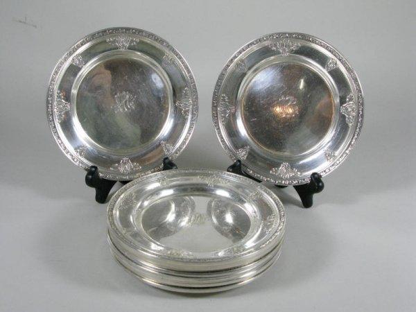 """2: Twelve Sterling Bread Plates, """"Cinderella"""" Gorham,"""