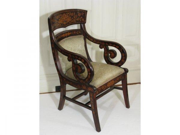 5: Open Arm Chair, Dutch, 19th c.,