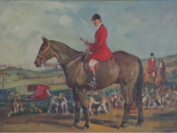 """6: J. Louis Lundean (NY, 1900-1977), """"At the Meet,"""""""