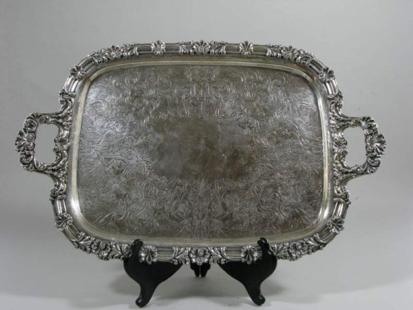 12: Silverplate Waiter, late 19th c.,