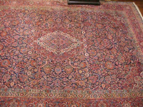 17: Persian Room Size Rug, Kashan, ca. 1930s,