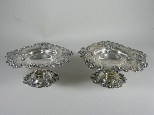 21: Pair of Redlich & Co. Sterling Silver Tazzas,