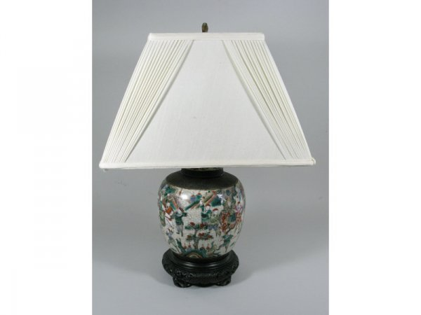 23: Japanese Porcelain Table Lamp, early 20th c.,