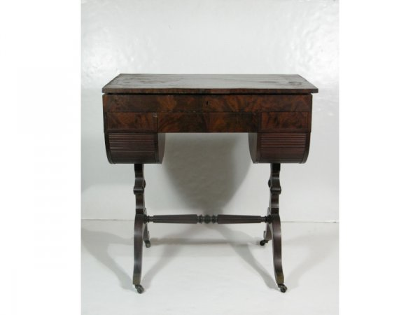 382: Federal Work Table, Labeled Duncan Phyfe, 19th c.,
