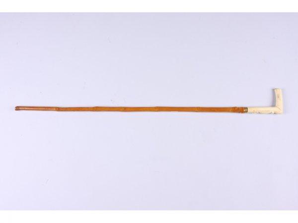 1004: Antique Bone-Handled Cane,