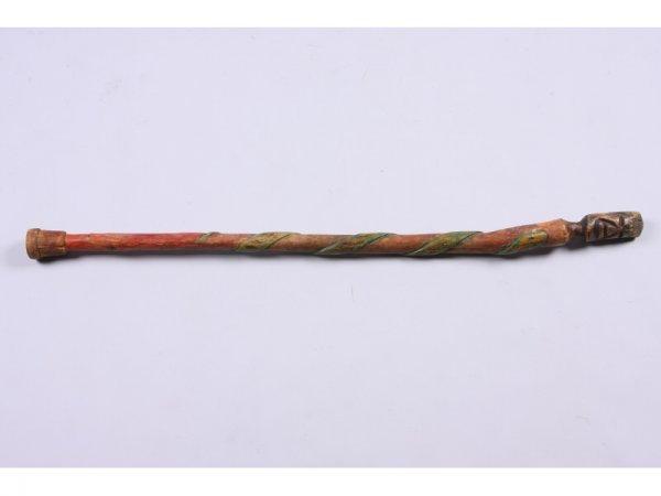 1008: Painted Folk Art Effigy Cane,