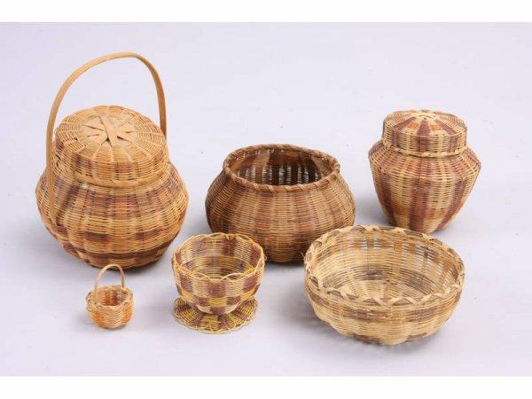 1024: Six NC Cherokee Baskets,