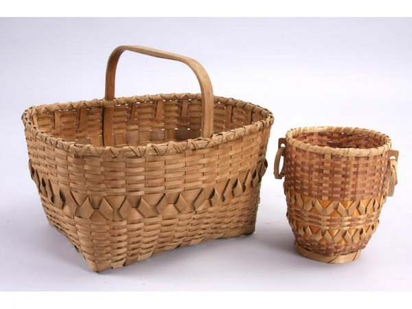1025: Two NC Cherokee Baskets,