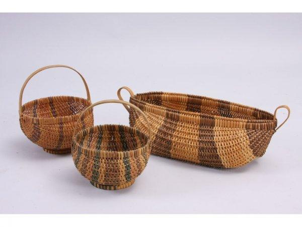 1026: Three NC Cherokee Baskets,
