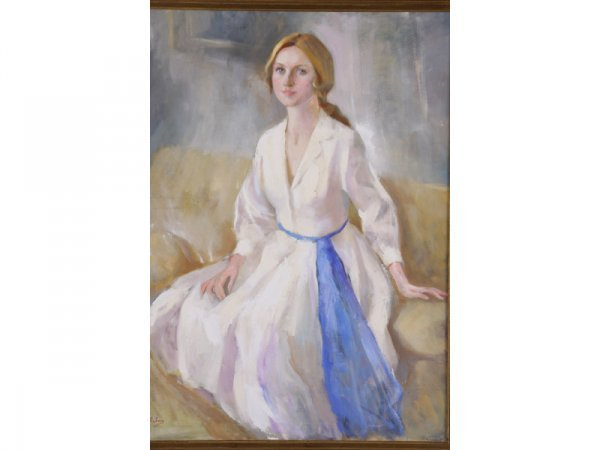 1195: Marcos Blahove (GA, 20th c.), Portrait of a Woman