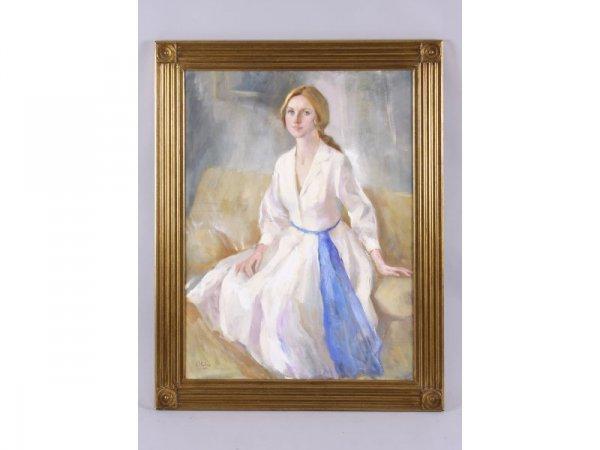 1195: Marcos Blahove (GA, 20th c.), Portrait of a Woman - 3