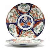 A Pair of Large Japanese Imari Chargers