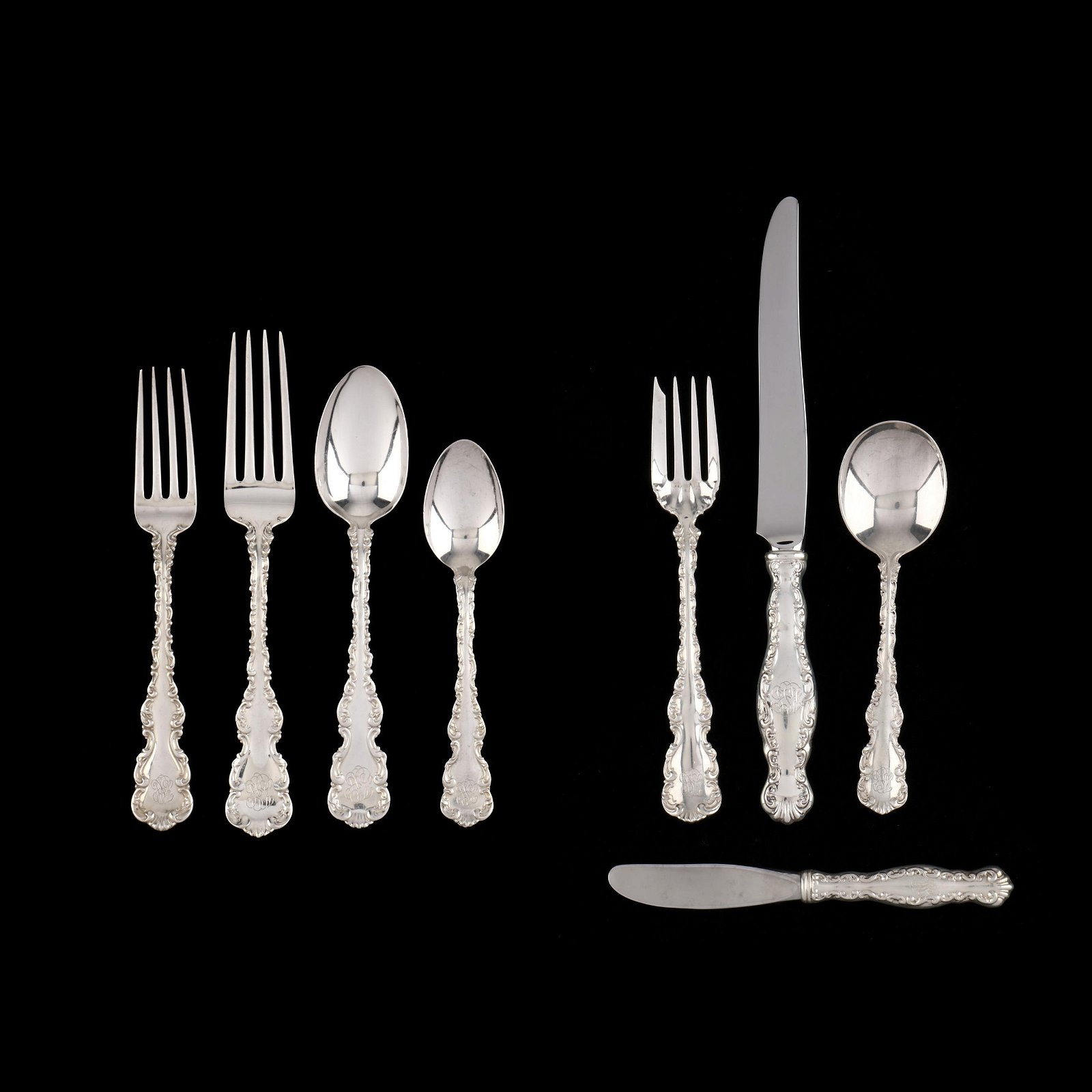 """An Assembled Set of Gorham and Whiting """"Louis XV"""""""