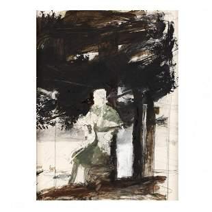 Andrew Wyeth (PA, 1917-2009), Cape Coat (Helga)