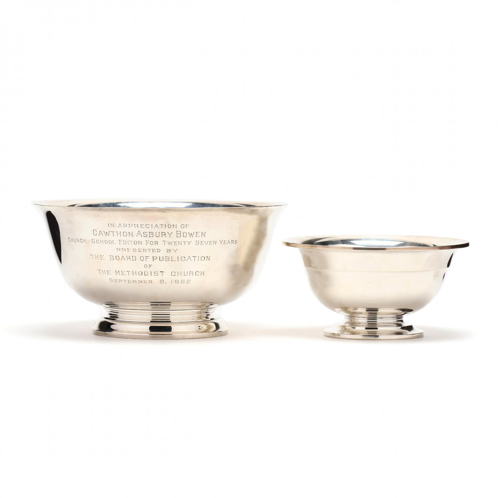 Two Sterling Silver Revere Bowls