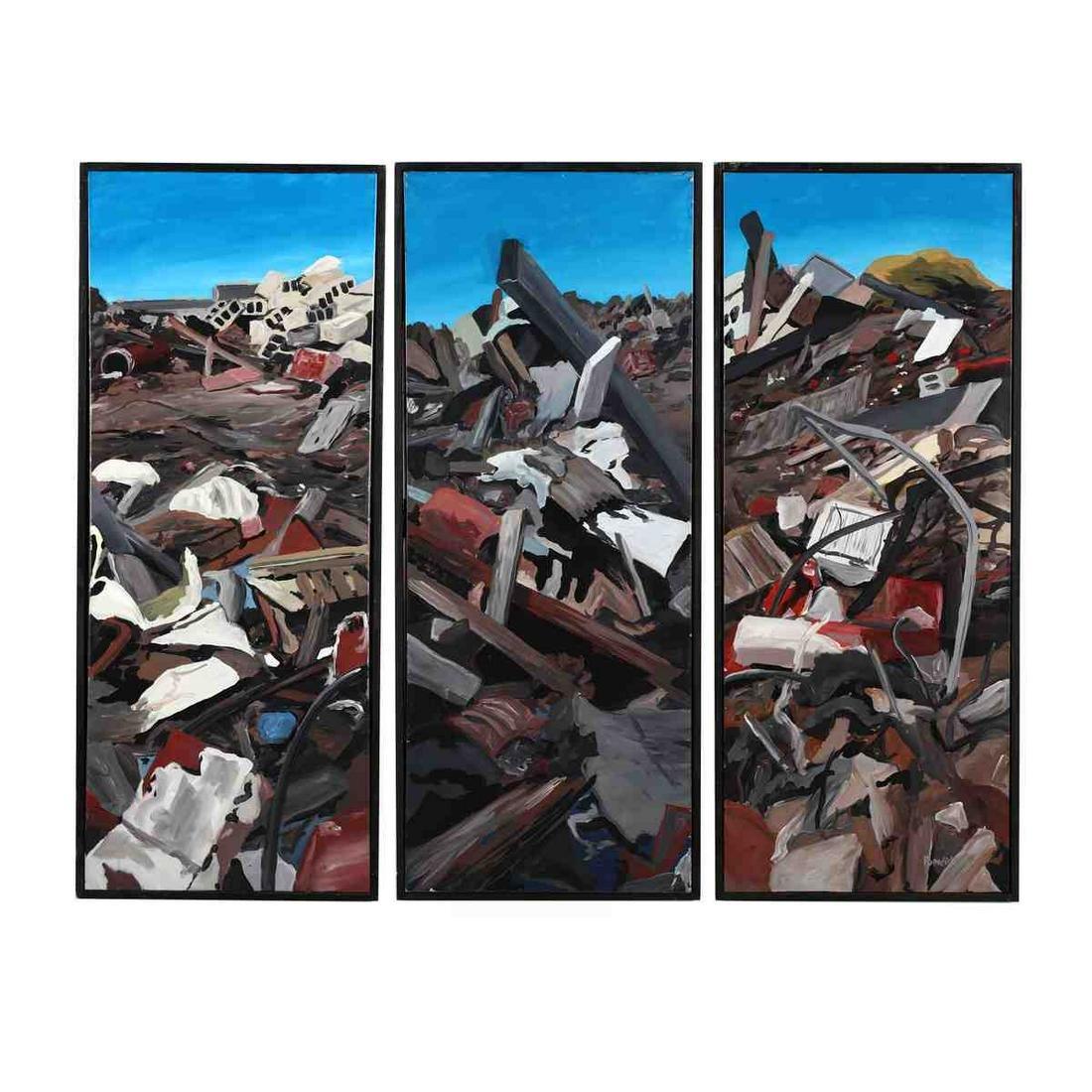 Stephen Popadich (NC), Trash Pile Triptych