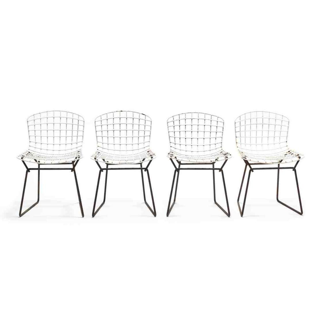 Harry Bertoia, Set of Four Child's Wire Chairs