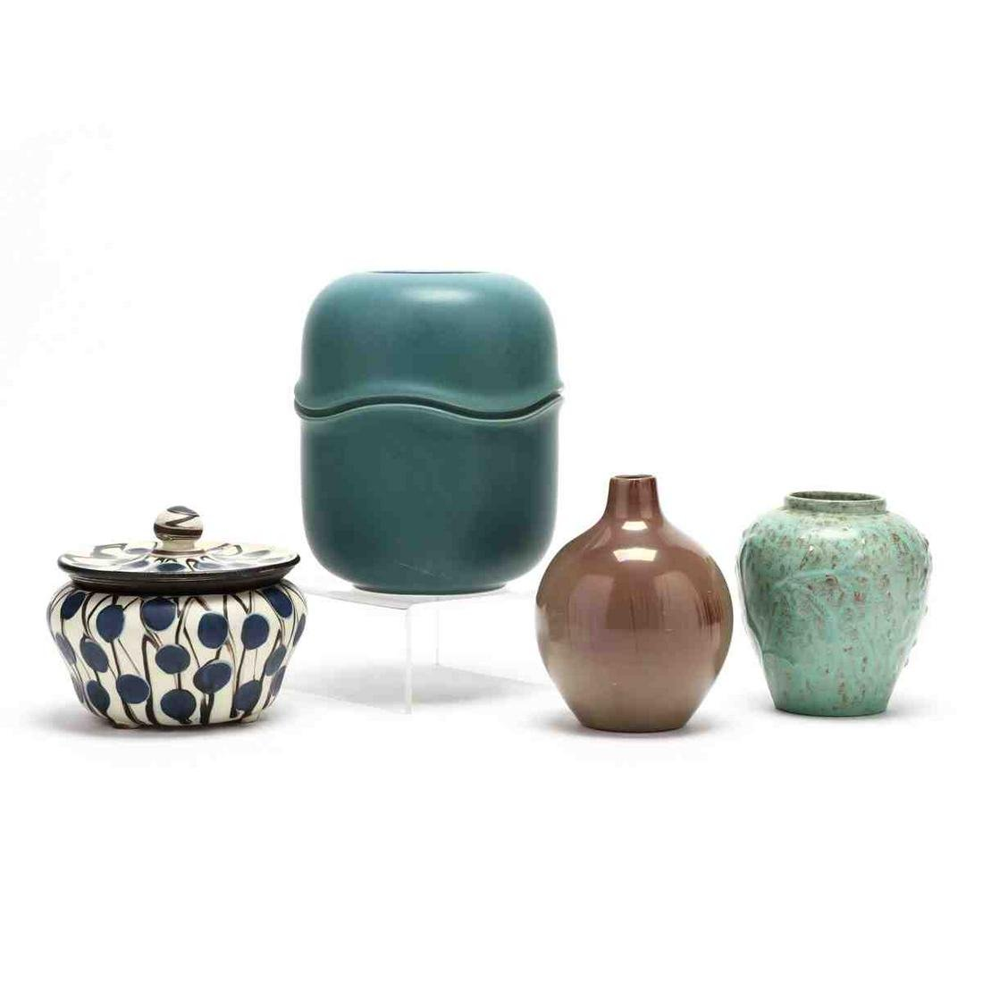 Four Pieces of Mid Century Modern Ceramics