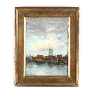 Charles Gruppe (1860-1940),  Near Rotterdam, Holland