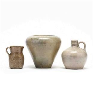 Three NC Pottery Vessels