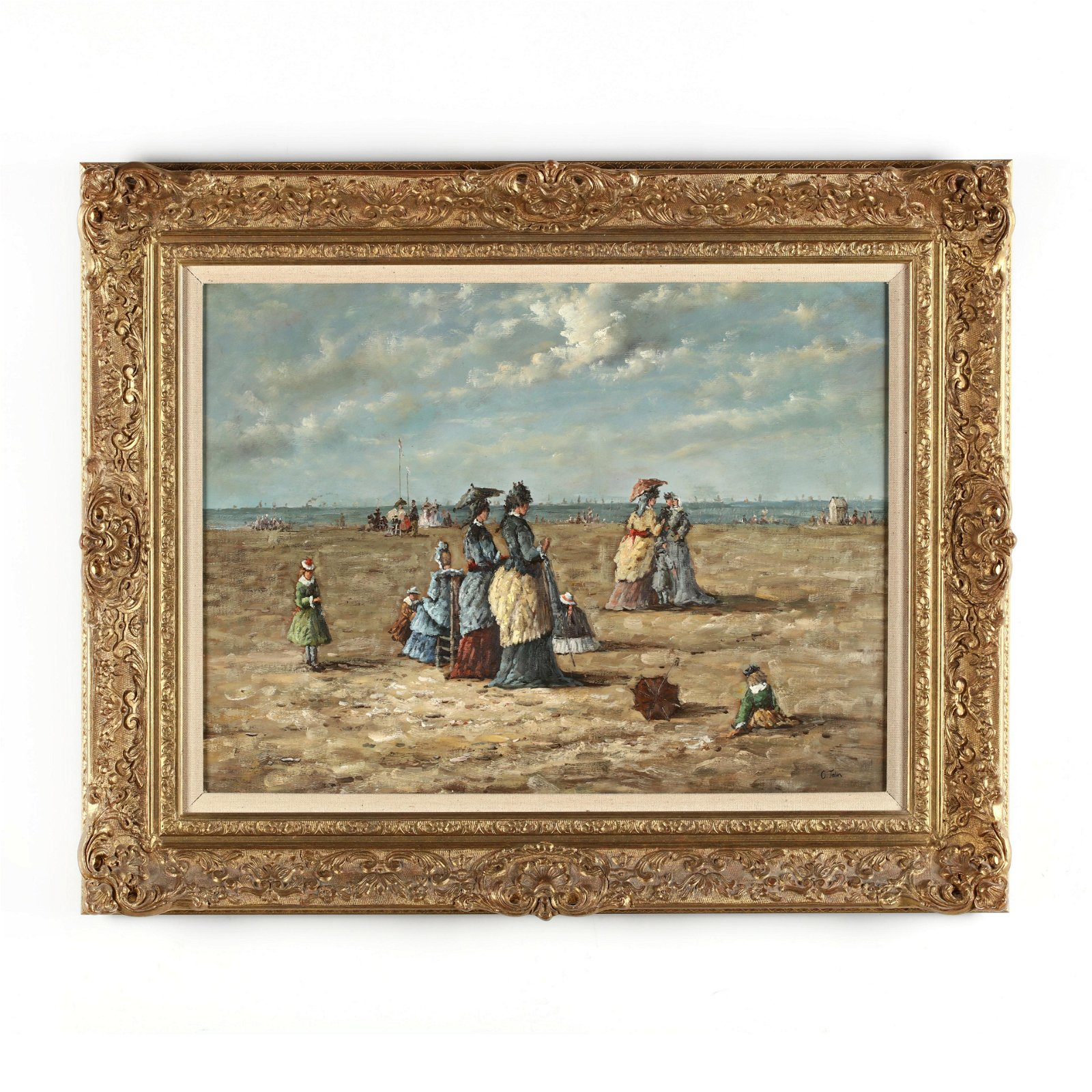 manner of Eugène Boudin (French, 1824-1898), On the