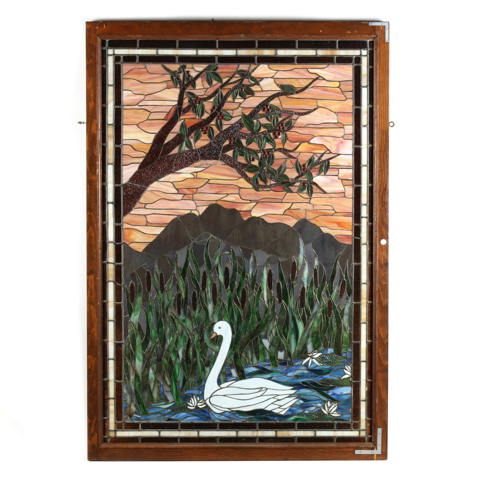 Large Vintage Stained Glass Window