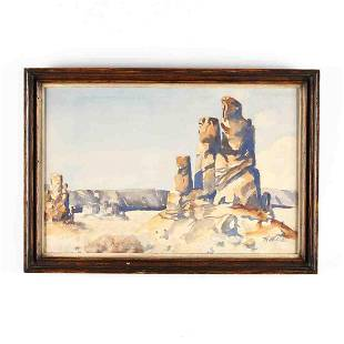 H Wiss American 20th century Landscape with