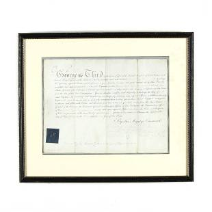 George III Military Appointment Signed George R