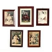 Five Currier  Ives Portrait Prints