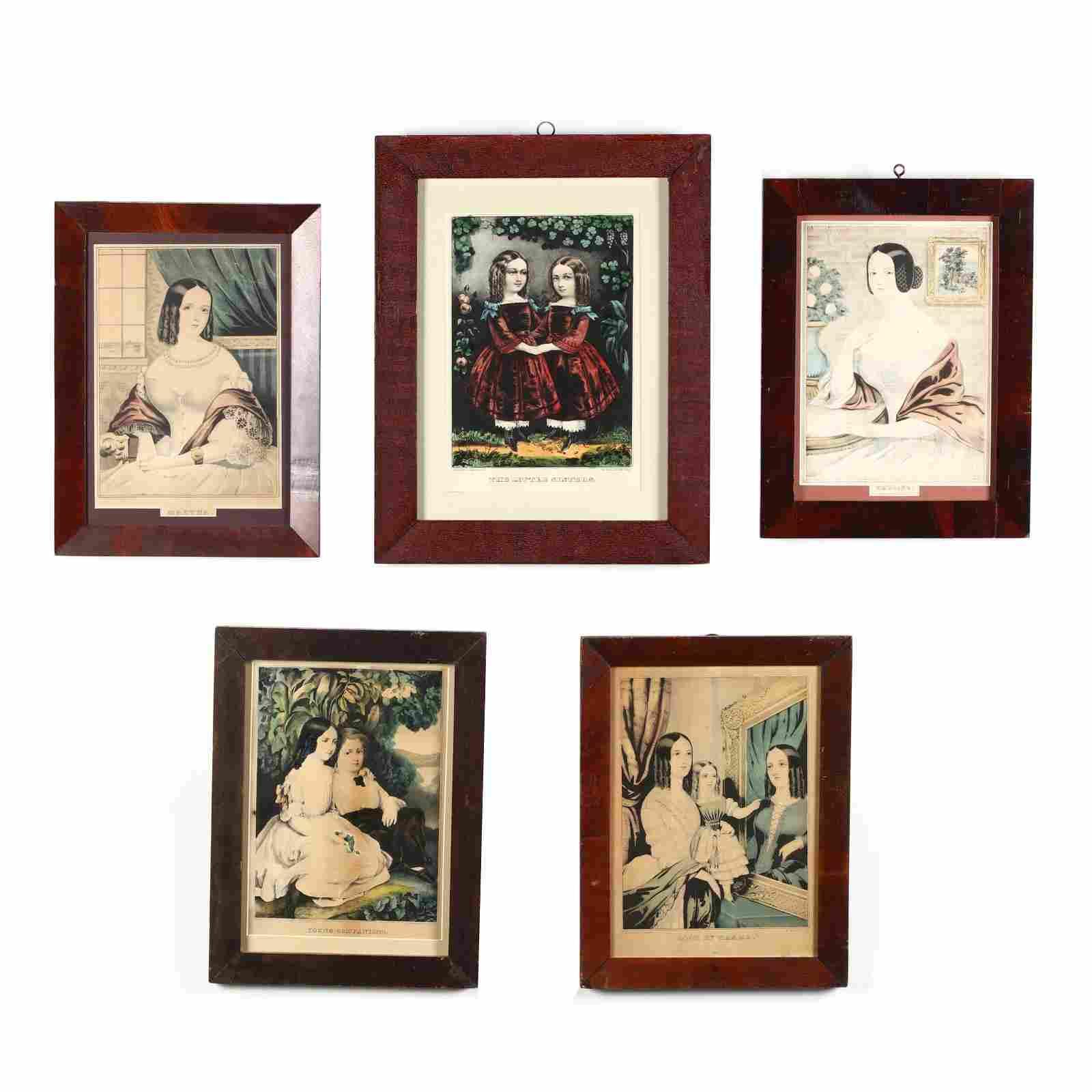 Five Currier & Ives Portrait Prints