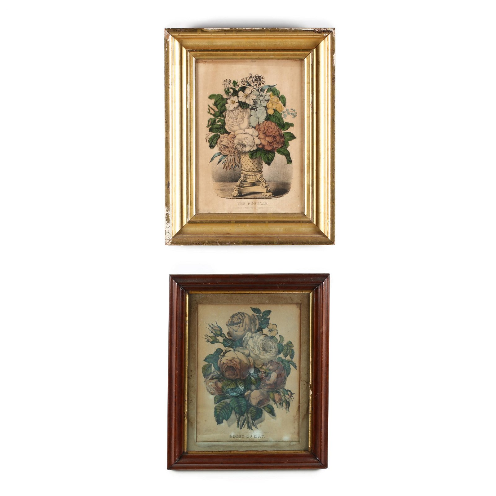 Two Currier & Ives Botanical Prints