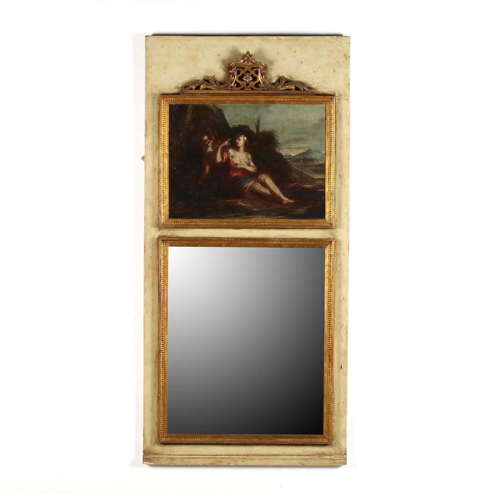 Vintage French Trumeau Mirror