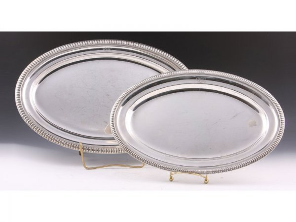 2: Pair of Gorham for Tiffany Silverplate Trays,