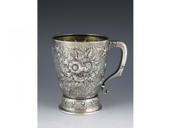 3: Tiffany & Co. Repousse Sterling Silver Mug,