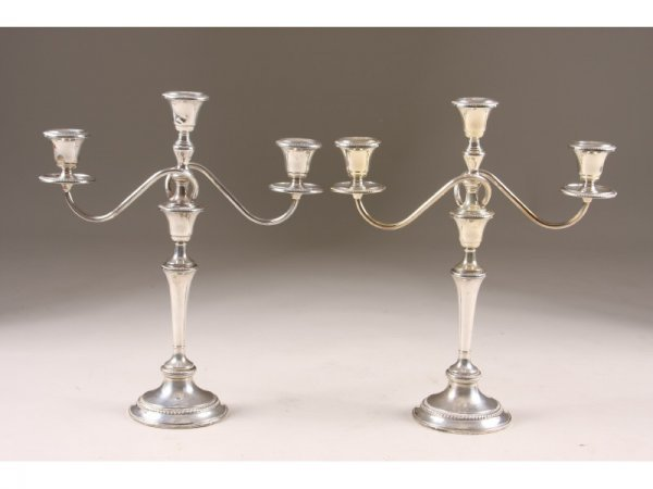 21: Frank M. Whiting Sterling Silver Candelabra,