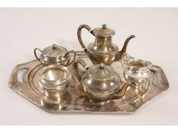 22: Frank W. Smith Sterling Silver Tea Set with Tray,