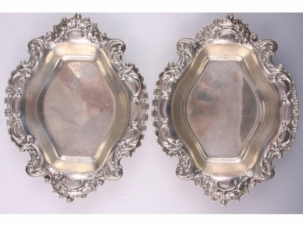 23: Pair of Reed & Barton Sterling Silver Nut Dishes,