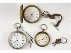 550: Three Antique Key-Wound Pocket Watches,