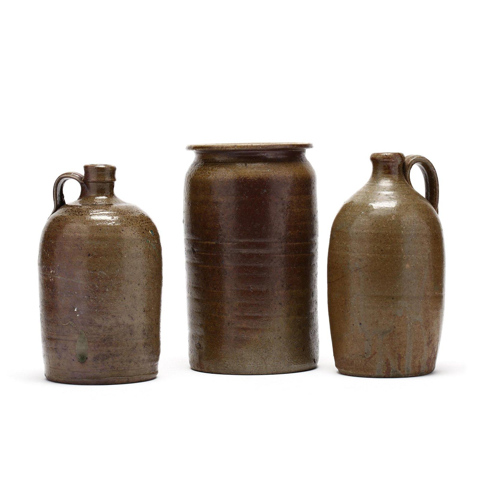 Three NC Pottery Utilitarian Vessels