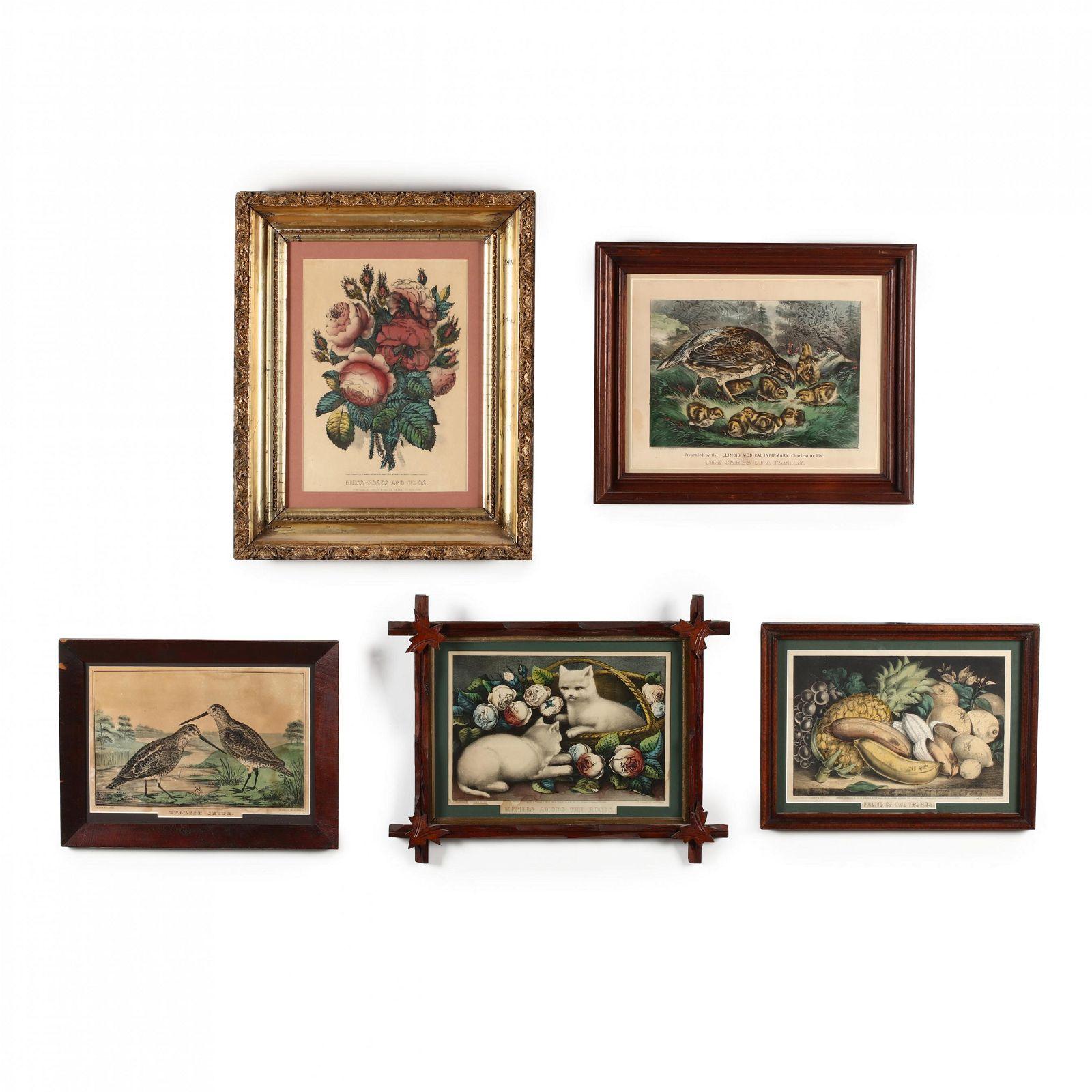 Five Currier & Ives Prints