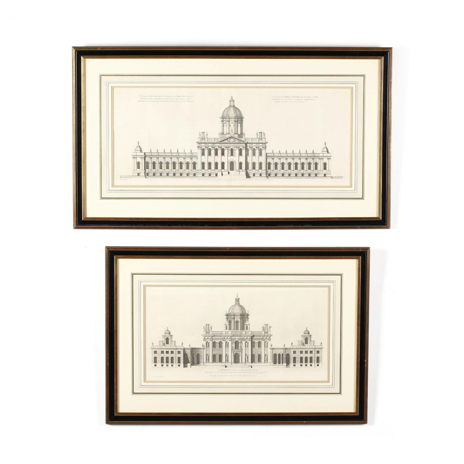 Two Antique Architectural Engravings from Colen