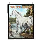 White Horse DoubleSided Pub Sign