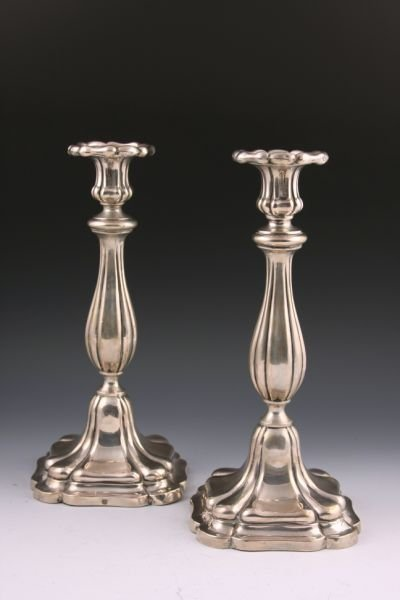 8: Pair of Austro-Hungarian Silver Candlesticks,