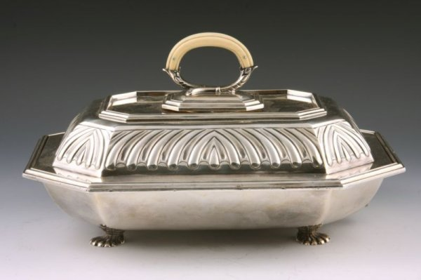 15: English Art Deco Silverplated Breakfast Server,