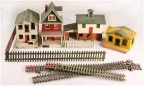 190: Folk Art Wooden Model Horse Farm,
