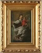 220: Spanish Colonial School, Madonna & Child,